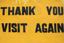 Thank You, Visit Again Sign Board In Sikkim