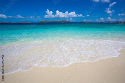 Shoreline of Caribbean Sea on St. John, US Virgin Islands Canvas Print