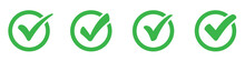 Green сheck Mark Icons Set. C...