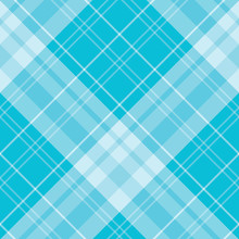Seamless Pattern In Fascinating Positive Sky Blue Colors For Plaid, Fabric, Textile, Clothes, Tablecloth And Other Things. Vector Image. 2