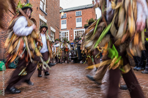 Photo morris dancers in creative blur, nantwich, cheshire