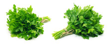 Fresh Parsley On White Backgro...