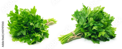 Fototapeta Fresh parsley on white background