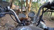 Selective Focus Shot Of A Moto...