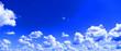 Leinwandbild Motiv sky beautiful blue cloud white sky blue Beautiful sunlight with sky background,morning sky over the sky.