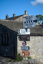Signpost In Kettlewell In The ...