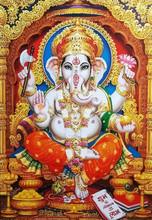 Ganesha White Hindu Temple Bless Lord Faith Mythology God  Illustration