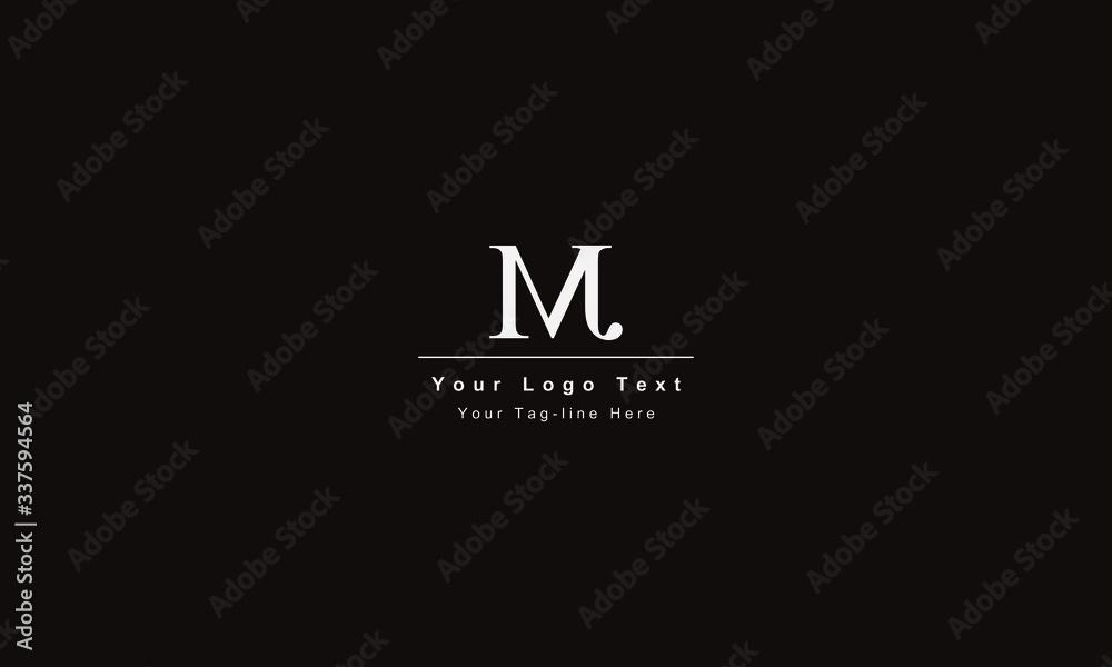 Fototapeta Premium Initial Letter JM logo design. Trendy awesome artistic black and white color JM MJ initial based Alphabet icon logo