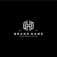 Letter H Tech Logo Design Vector