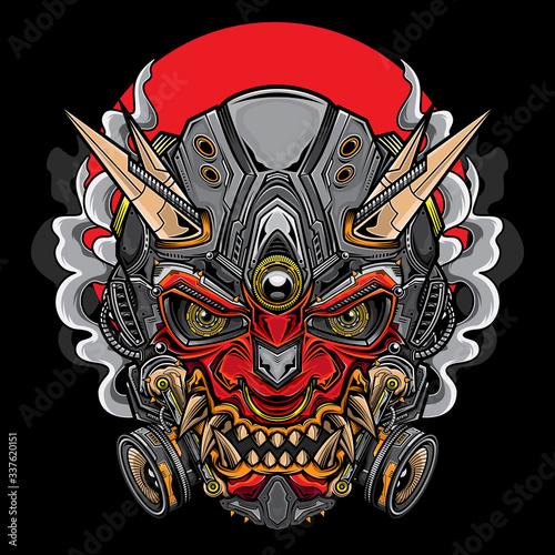 Photo japanese hannya oni mask