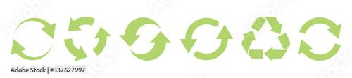 Fotografie, Obraz Recycle green vector icons