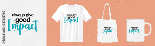 Cuadros en Lienzo Always good impact. quotes and merchandise mockup for print