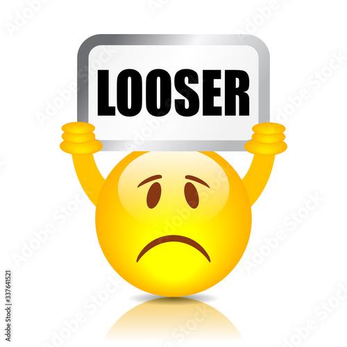 Fotografie, Obraz Emoticon showing looser sign