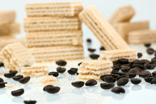 Creamy Coffee Wafers And Aroma...