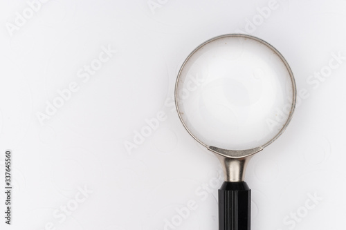 magnifying glass on white background Canvas Print