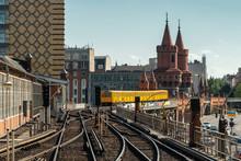 City Train On Oberbaum Bridge In Berlin, Germany.