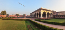 The Diwan-i-Am In The Inner Court Of Agra Fort, India, Morning Panorama