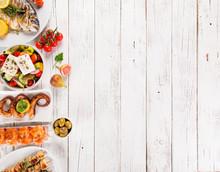 Greek Food Background. Traditi...