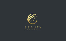 Letter C Beauty Face Logo Design