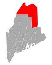Karte Von Aroostook In Maine