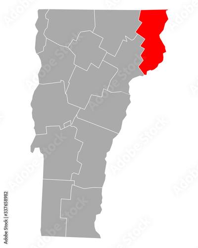 Fotomural Karte von Essex in Vermont