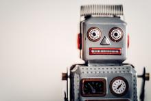 Vintage Tin Robot Portrait. Co...