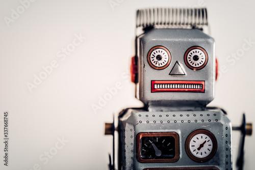 Vintage tin robot portrait. Color tone tuned Fototapete