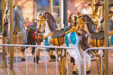 Colorful Children Carousel Wit...