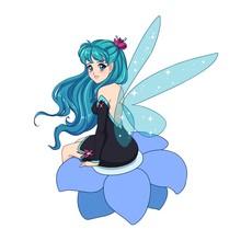 Beautiful Anime Fairy With Shi...