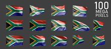 South Africa Flag Isolated - V...