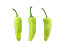 Green Chili Pepper Isolated On...