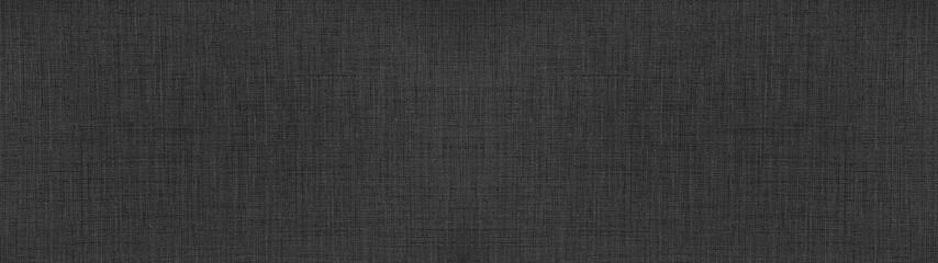 Dark anthracite gray black natural cotton linen textile texture background banner panorama