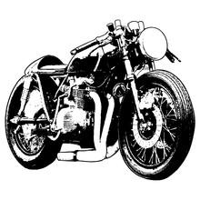 Motorcycle On White Background...