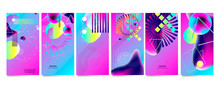 Set Of Banners Bright Colors P...