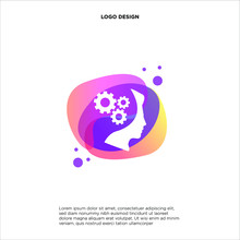 Colorful Head Gear Logo Vector, People Mind Logo Designs Template, Design Concept, Logo, Logotype Element For Template