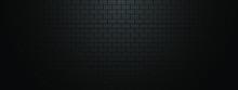 Black Brick Wall Geometric Pat...