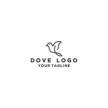 Creative Dove Line Logo Design Template