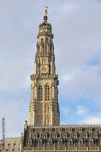 Arras city town hall, France Canvas Print