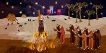 Medieval Scene. Inquisition. B...