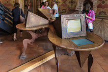 The Room In Which Everyone Can Write A Letter To Juliet On A Special Computer In The Juliet House On Via Cappello In The Old Part Of Verona  City In Italy.