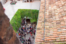 View From The Roof Of The Courtyard Of The Juliet House On Via Cappello In The Old Part Of Verona  City In Italy.