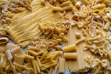Uncooked Dry Pasta Of Differin...