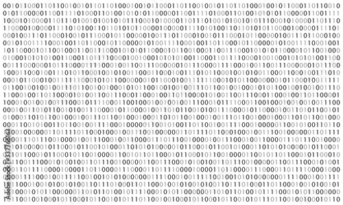 Stampa su Tela Digital  binary code background