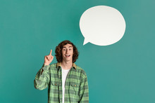 Young Guy With Speech Bubble H...