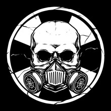 Skull With Gas Mask And Bio Ha...