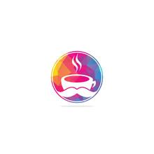 Coffee Shop Logo Vector Illustration. Coffee Shop Logo Emblem Vector. Mr Coffee Shop Logo. Coffee Cafe Logo