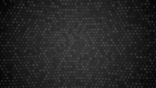 Black Hexagon Background. Dark...