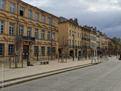 Cours mirabeau vide à Aix en provence en période de confinement, france, ville d Canvas-taulu