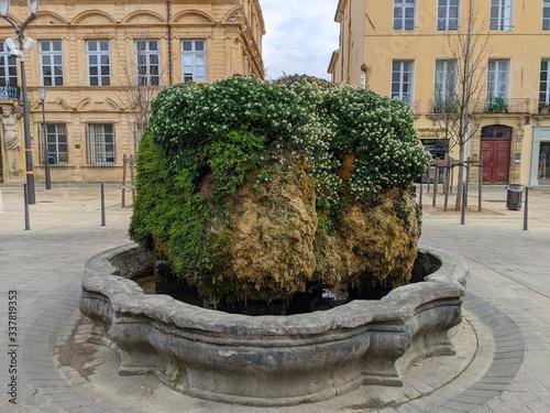 Vászonkép Cours mirabeau vide à Aix en provence en période de confinement, france, ville d