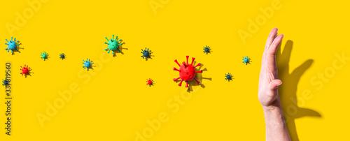 Obraz Stop epidemic influenza and Coronavirus Covid-19 concept - fototapety do salonu